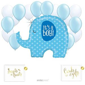 globos azul con elefante its a boy