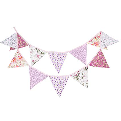 Banderines de fiesta rosa baby shower