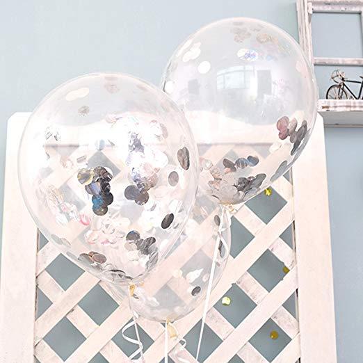 globos transparantes con confeti