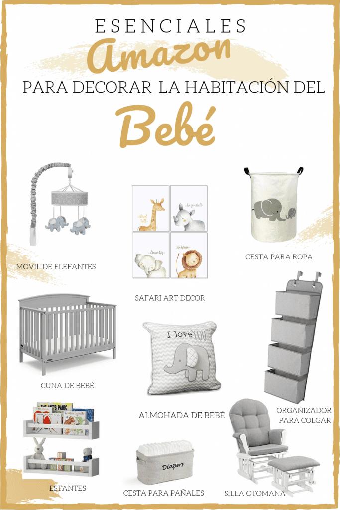 Esenciales amazon para decorar habitación de bebé