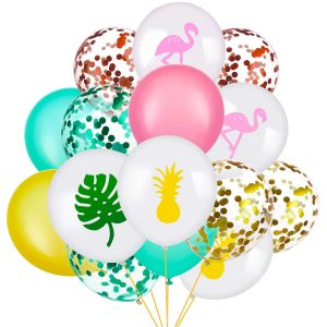 globos club baby shower tropical y flamingo