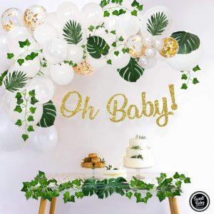 decoración tropical babyshower