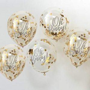 globos confetti dorados oh baby