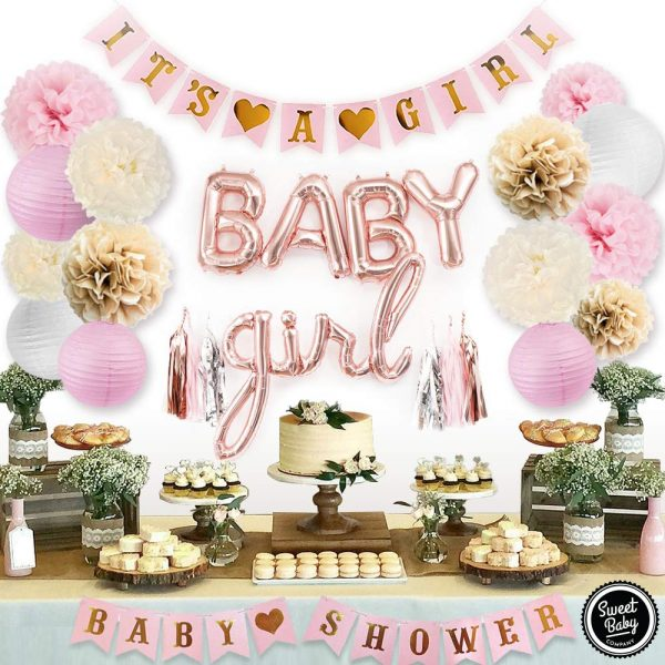 combo de decoración baby shower niñas
