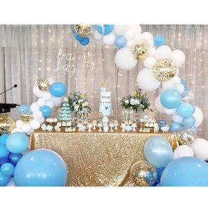 globos decoracion de fiesta azul