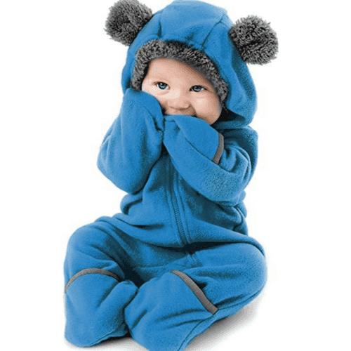 pijama cuerpo completo diseño de oso azul