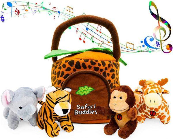 set de peluches animales de la selva juguetes